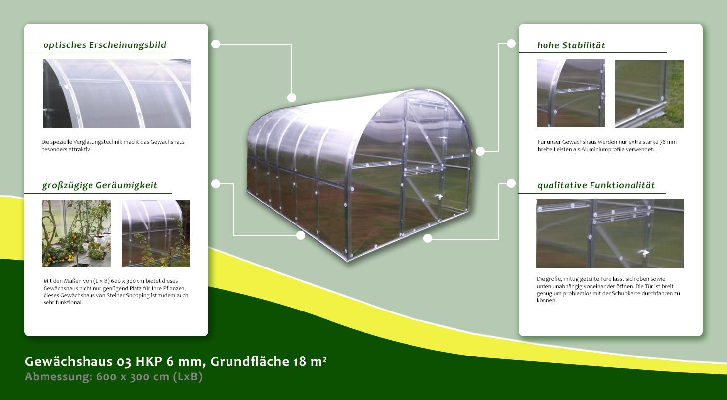 gew chshaus 03 hkp 6 mm grundfl che 18 m abmessungen. Black Bedroom Furniture Sets. Home Design Ideas