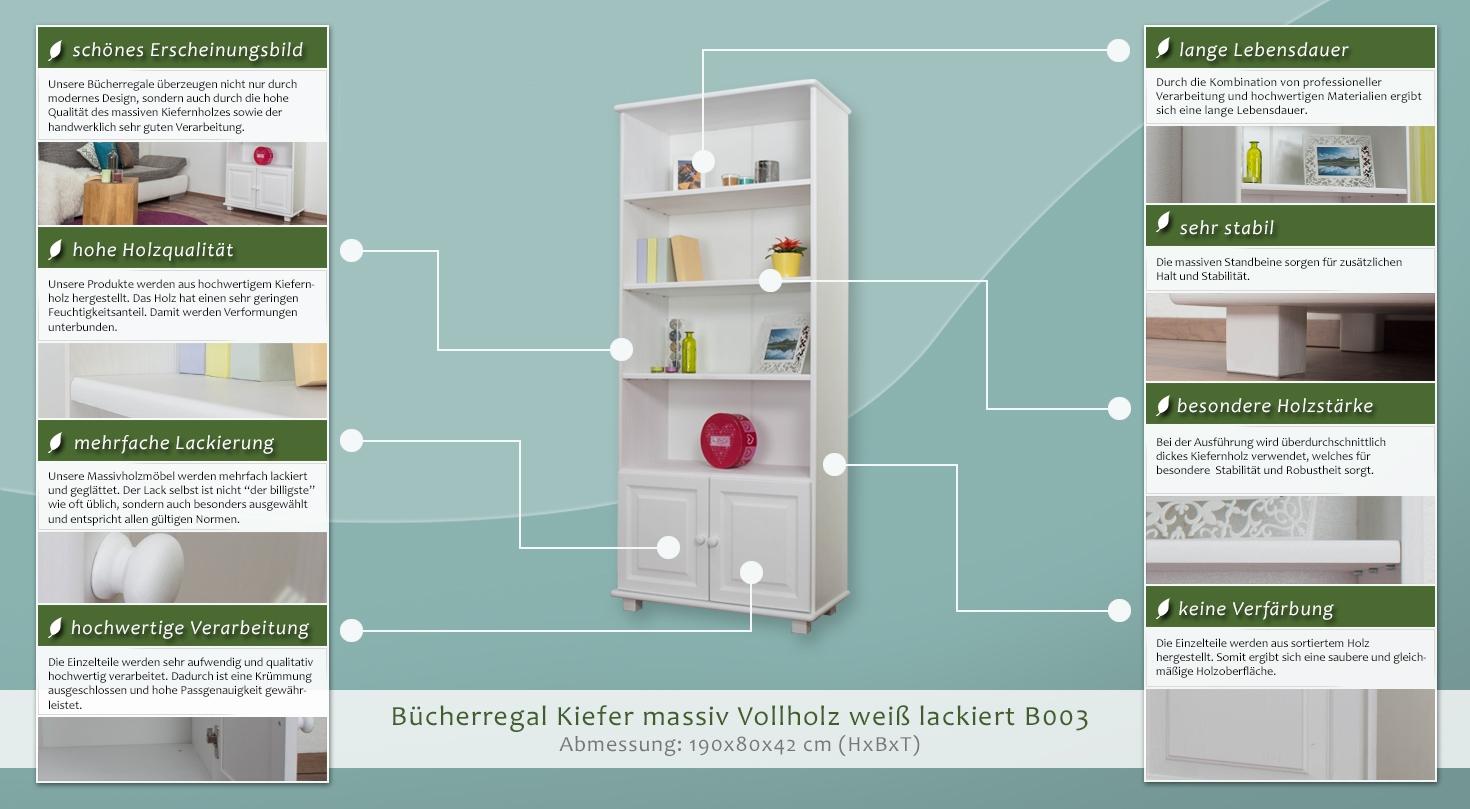Regal, Küchenregal, Wohnzimmerregal, Bücherregal - 80 cm breit ...