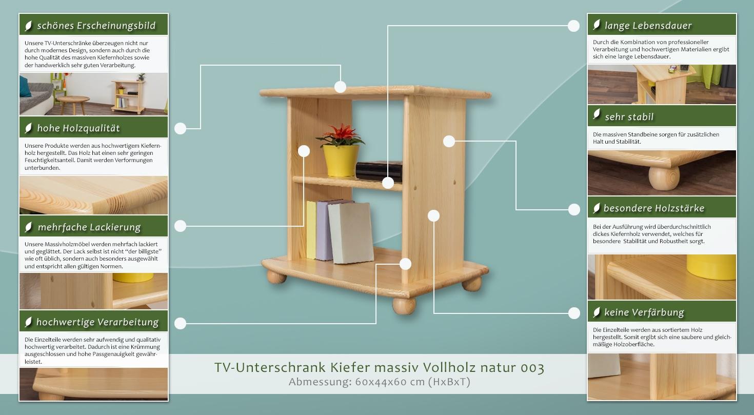 fernsehunterschrank 003 60 x 44 x 60 cm h x b x t. Black Bedroom Furniture Sets. Home Design Ideas
