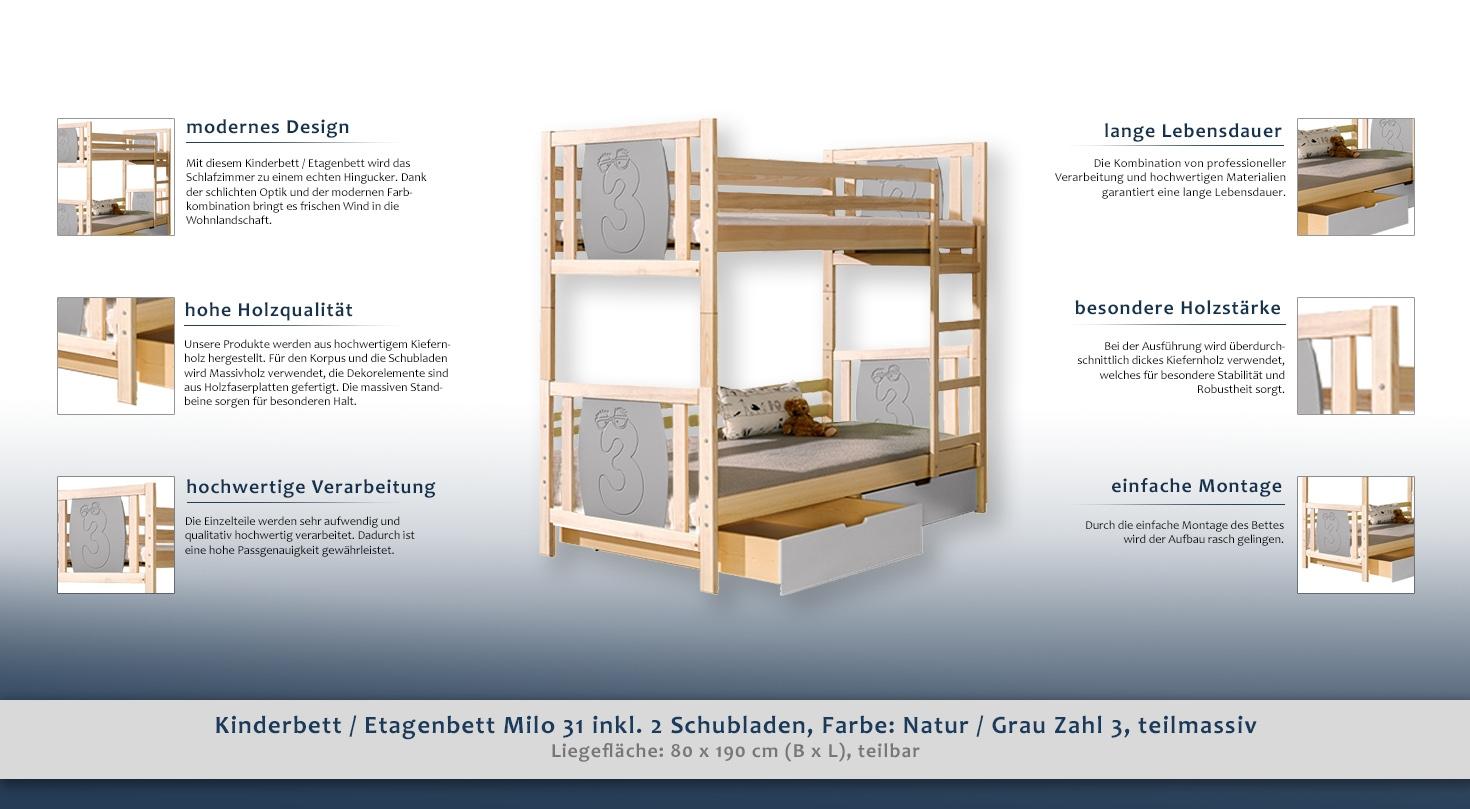 Etagenbett Grau : Doppelstockbett stockbett bett etagenbett mit schreibtisch