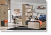 Jugendzimmer schreibtisch elsa 08 farbe esche orange for Wohnlandschaft zusammenbauen