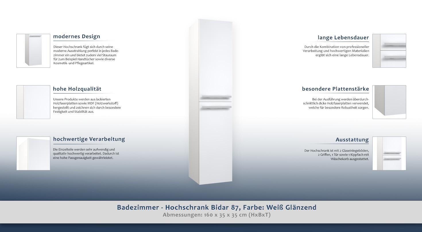 Beautiful Badezimmer Hochschrank Mit Waschekorb Ideas