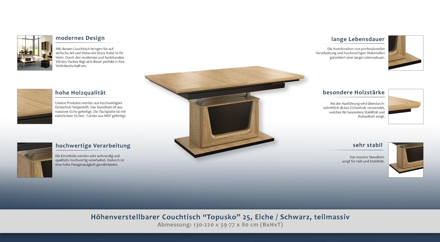 h henverstellbarer tisch. Black Bedroom Furniture Sets. Home Design Ideas