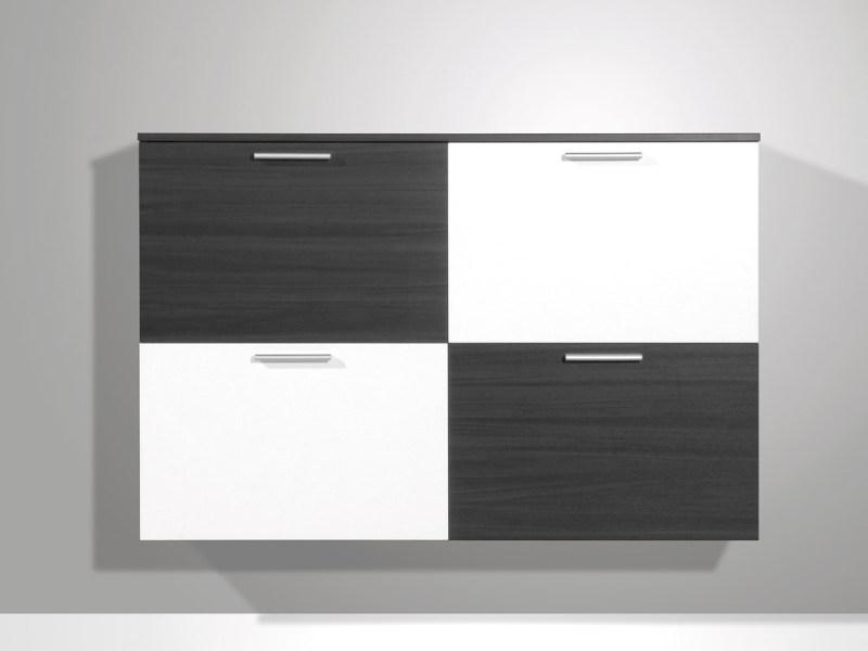 Quadro Schuhschrank - Esche-Karbon-Nb. / weiß