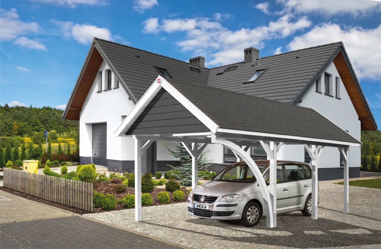 Carport Leimholz Satteldach - Abmessungen: 360 x 639 cm