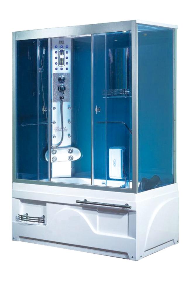 Sanotechnik Whirlpool und Dampfdusch Kombination Memphis - Ausführungen: Links