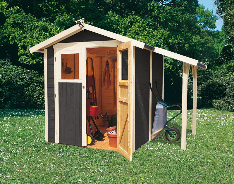 farbe gartenhaus grau. Black Bedroom Furniture Sets. Home Design Ideas