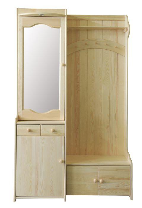 Garderobe m bel kiefer preisvergleiche for Garderobe 200 cm