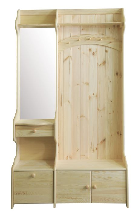 Garderobe kiefer massiv preisvergleiche for Garderobe 200 cm