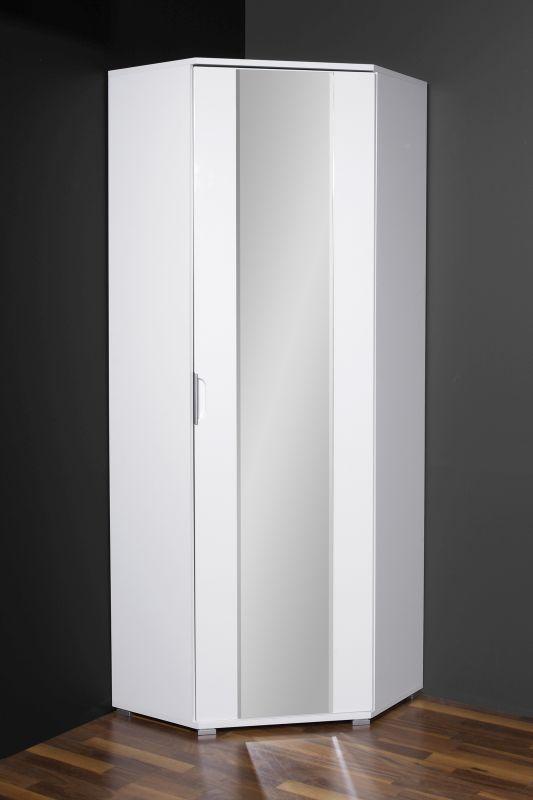 GW-Trento - Eck-Garderobenschrank - Dekor: weiß