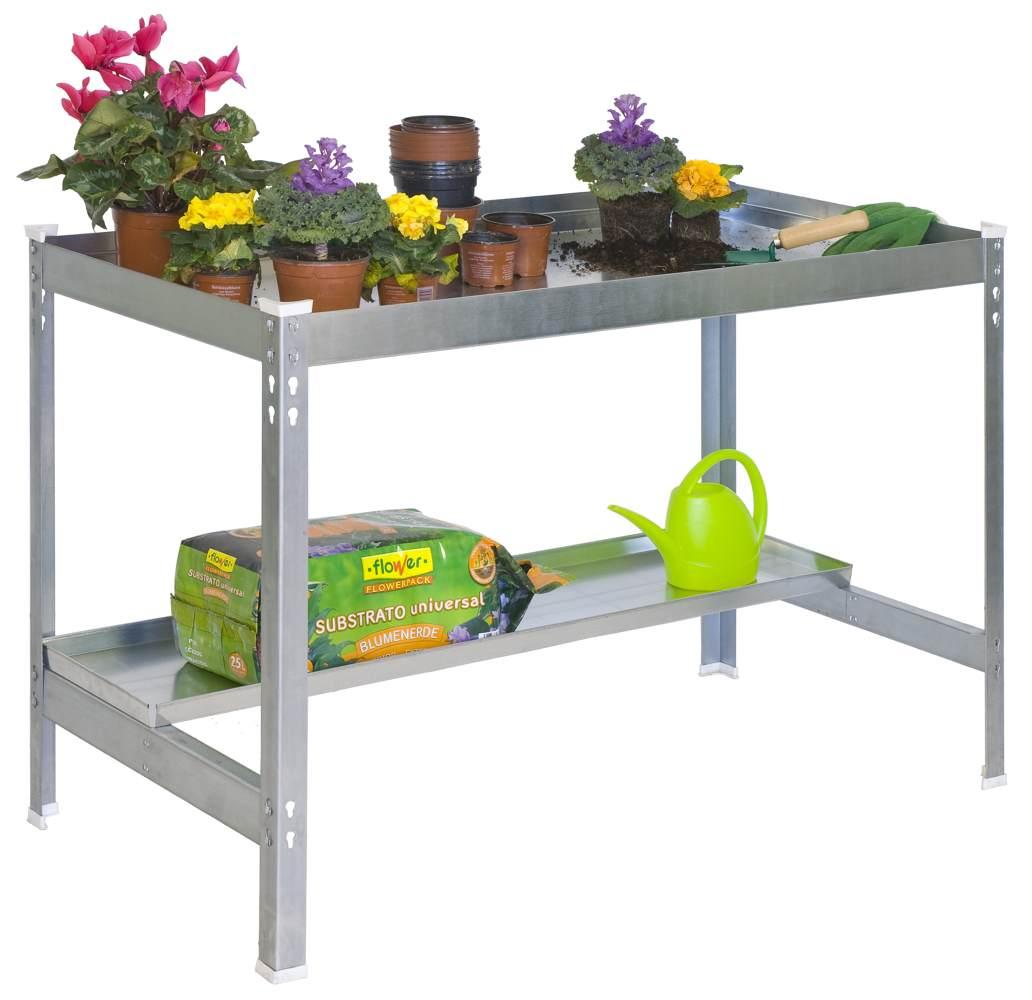 Gartentisch Galva Farbe Grau Masse 84 X 120 X 60 Cm H X B X T
