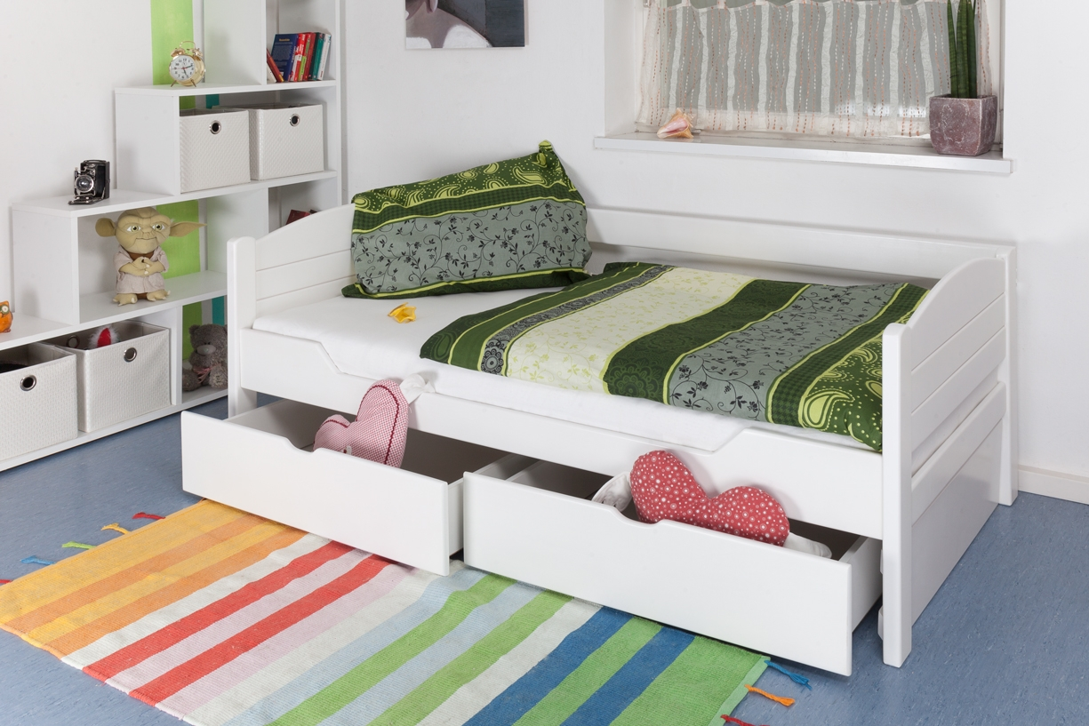 bett mit schublade weiss preisvergleiche. Black Bedroom Furniture Sets. Home Design Ideas