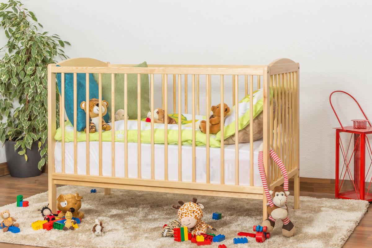 Steiner Shopping Möbel Gitterbett / Kinderbett Kiefer massiv Vollholz natur 103, inkl. Lattenrost - Abmessung 60 x 120 cm