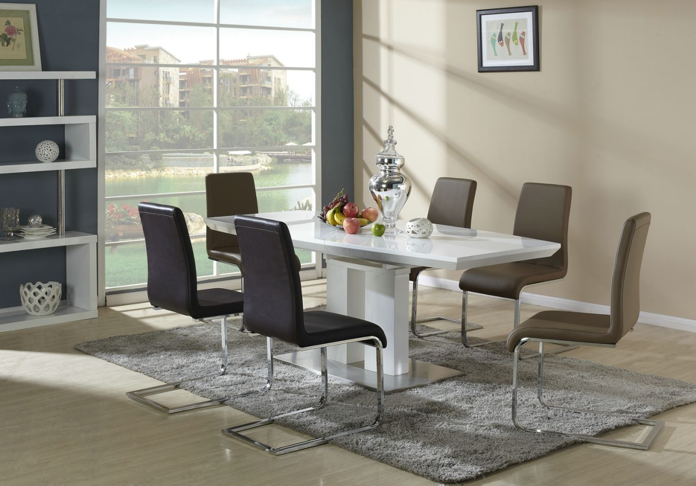 hochglanz esstisch weiss ausziehbar preisvergleiche erfahrungsberichte und kauf bei nextag. Black Bedroom Furniture Sets. Home Design Ideas