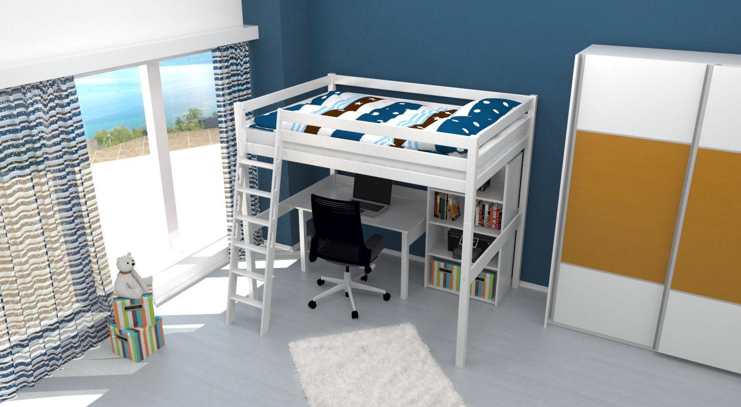 elegantes doppel hochbett f r erwachsene bilder erindzain. Black Bedroom Furniture Sets. Home Design Ideas