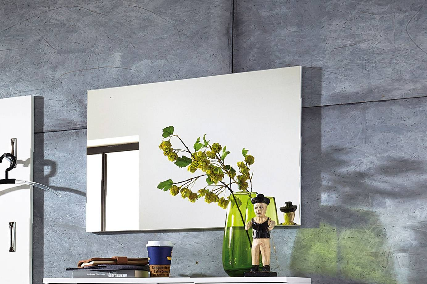 GW-Inside - Spiegel, klein - Dekor: weiß