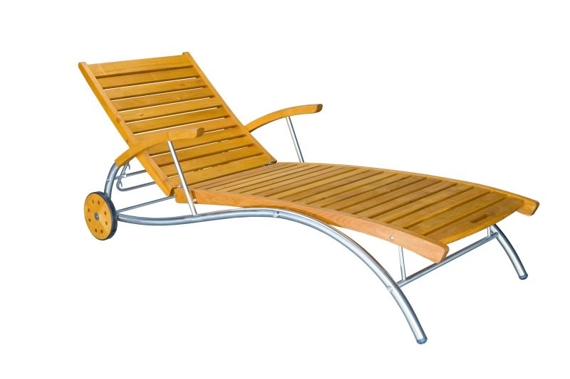 Rattan Gartenmobel Elemente : Kübler Holz Liege Ferrara, EdelstahlRobinie braun lasiert