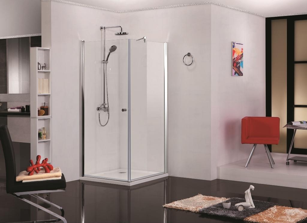 Dusche Ohne T?r Kalt : Sanotechnik Eck-Duschkabine mit einer Schwingt?re und einem Fixteil