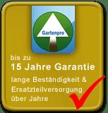 Gartenpro garantiert 15 J