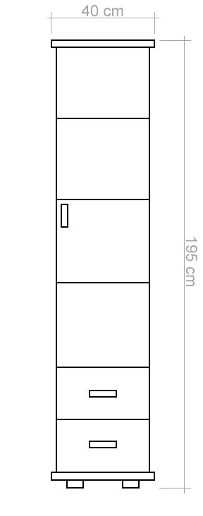 kleiderschrank kiefer vollholz massiv natur columba 03. Black Bedroom Furniture Sets. Home Design Ideas