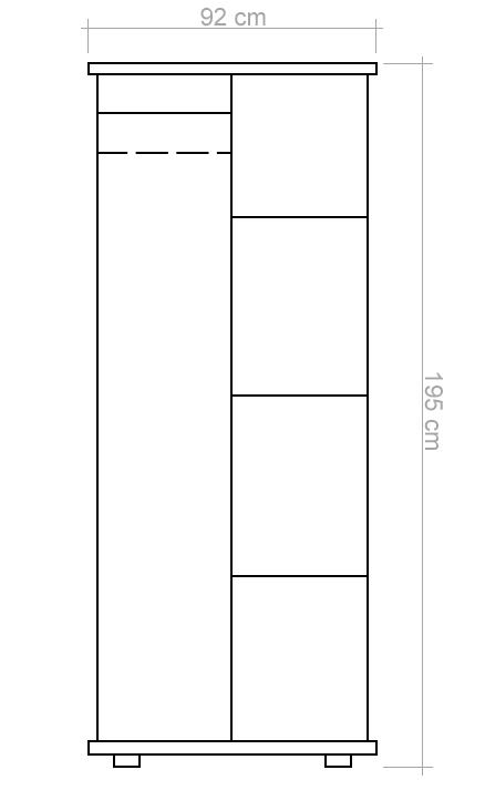 kleiderschrank kiefer schiebet ren. Black Bedroom Furniture Sets. Home Design Ideas