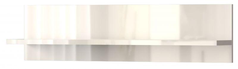 Hängeregal / Wandregal Garim 41, Farbe: Beige Hochglanz - 30 x 120 x 21 cm (H x B x T)