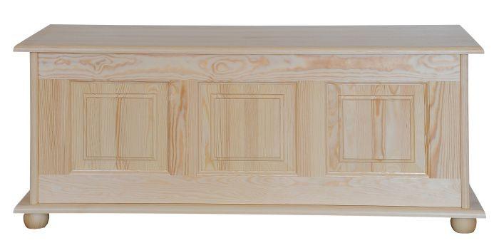 Truhe Kiefer massiv Vollholz natur 180 – 50 x 120 x 48 cm (H x B x T)