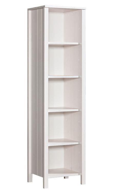 Regal Milo 12, Farbe: Weiß, Kiefer Vollholz massiv - Abmessungen: 187 x 50 x 42 cm (H x B x T)
