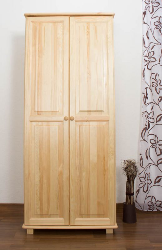 Kleiderschrank Holz natur 008 - Abmessung 190 x 80 x 60 cm (H x B x T)