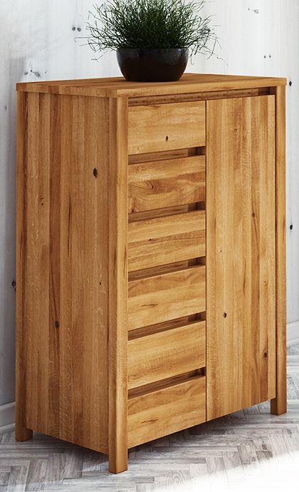 Kommode Tasman 16 Wildeiche massiv geölt - Abmessungen: 112 x 80 x 45 cm (H x B x T)
