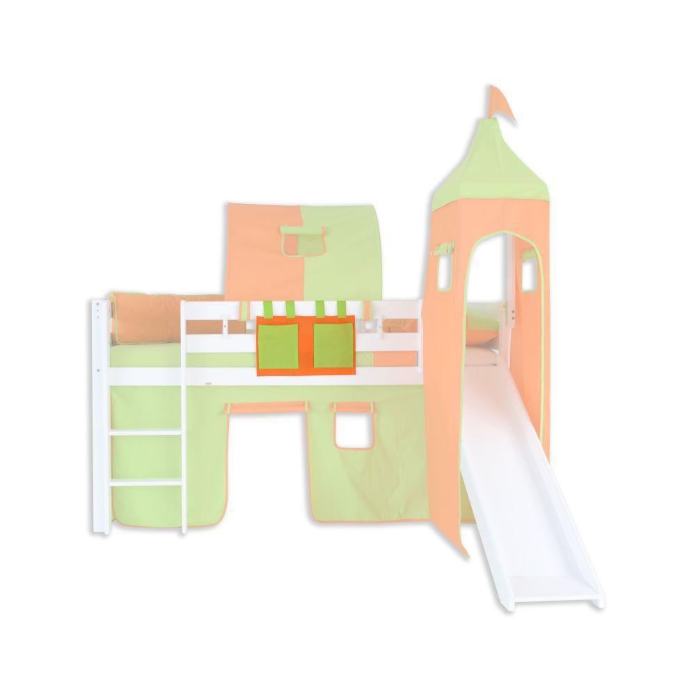 Stofftasche - Farbe:Grün/Orange