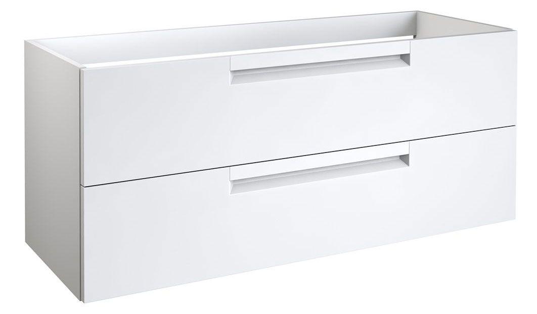 Waschtischunterschrank Meerut 74, Farbe: Weiß matt – 50 x 119 x 45 cm (H x B x T)