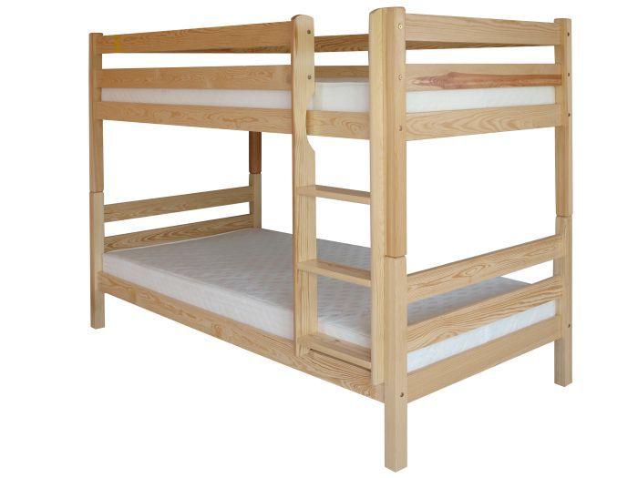 Kinderbett / Etagenbett Kiefer massiv Vollholz natur 121 – Abmessung 90 x 200 cm, teilbar