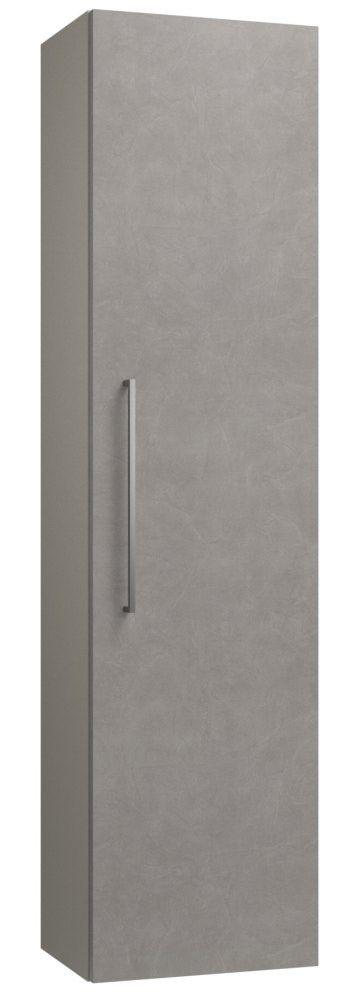 Badezimmer - Hochschrank Noida 43, Farbe: Beige / Grau – 138 x 35 x 25 cm (H x B x T)