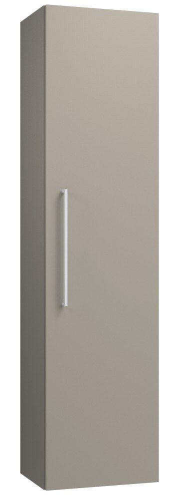 Badezimmer - Hochschrank Noida 47, Farbe: Beige – 138 x 35 x 25 cm (H x B x T)