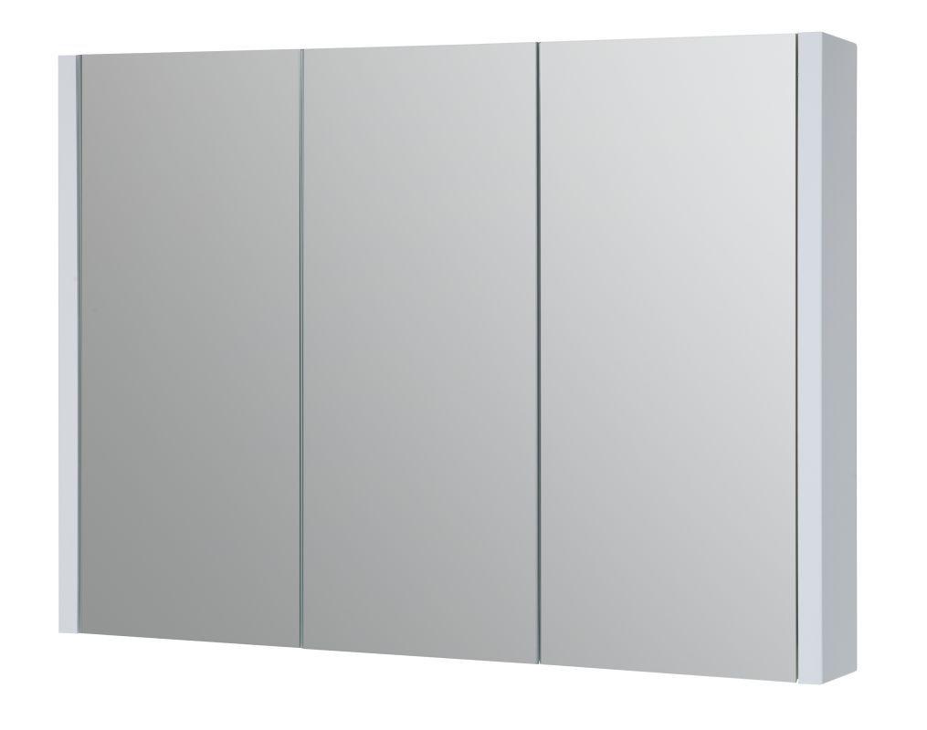 Bad - Spiegelschrank Bidar 19, Farbe: Weiß glänzend – 65 x 90 x 12 cm (H x B x T)