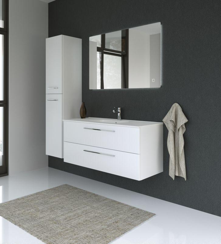Badezimmermöbel - Set CP Rajkot, 3-teilig inkl. Waschtisch / Waschbecken, Farbe: Weiß matt
