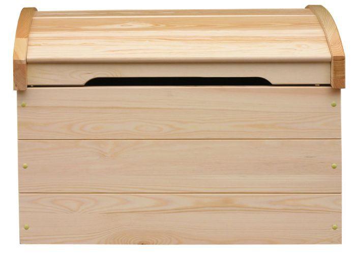Truhe Kiefer massiv Vollholz natur 183 – Abmessung 77 x 54 x 50 cm