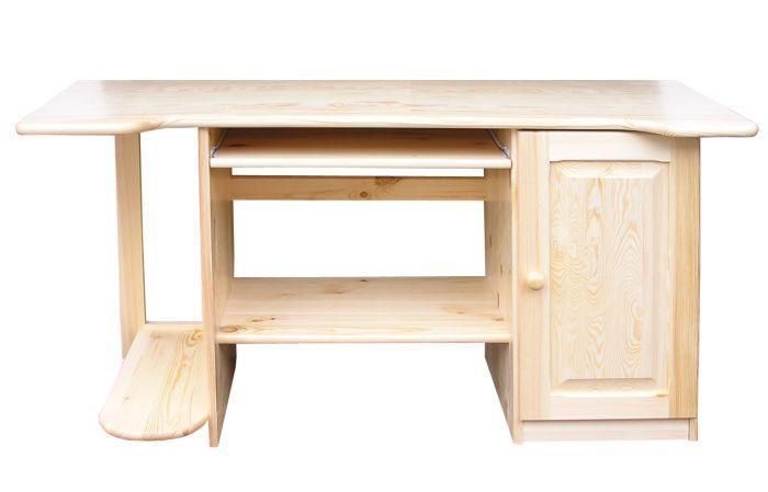 Schreibtisch Kiefer massiv Vollholz natur Junco 193 - Abmessung 75 x 145 x 57 cm