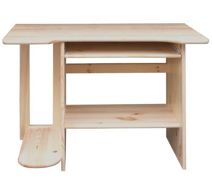 Schreibtisch Kiefer massiv Vollholz natur Junco 195 - Abmessung 75 x 103 x 57 cm