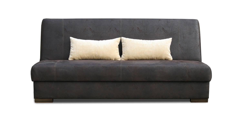 Schlafsofa Abele in dunkelbraun mit Bettfunktion und Staukasten– Abmessungen: 203 x 91 cm (B x T)