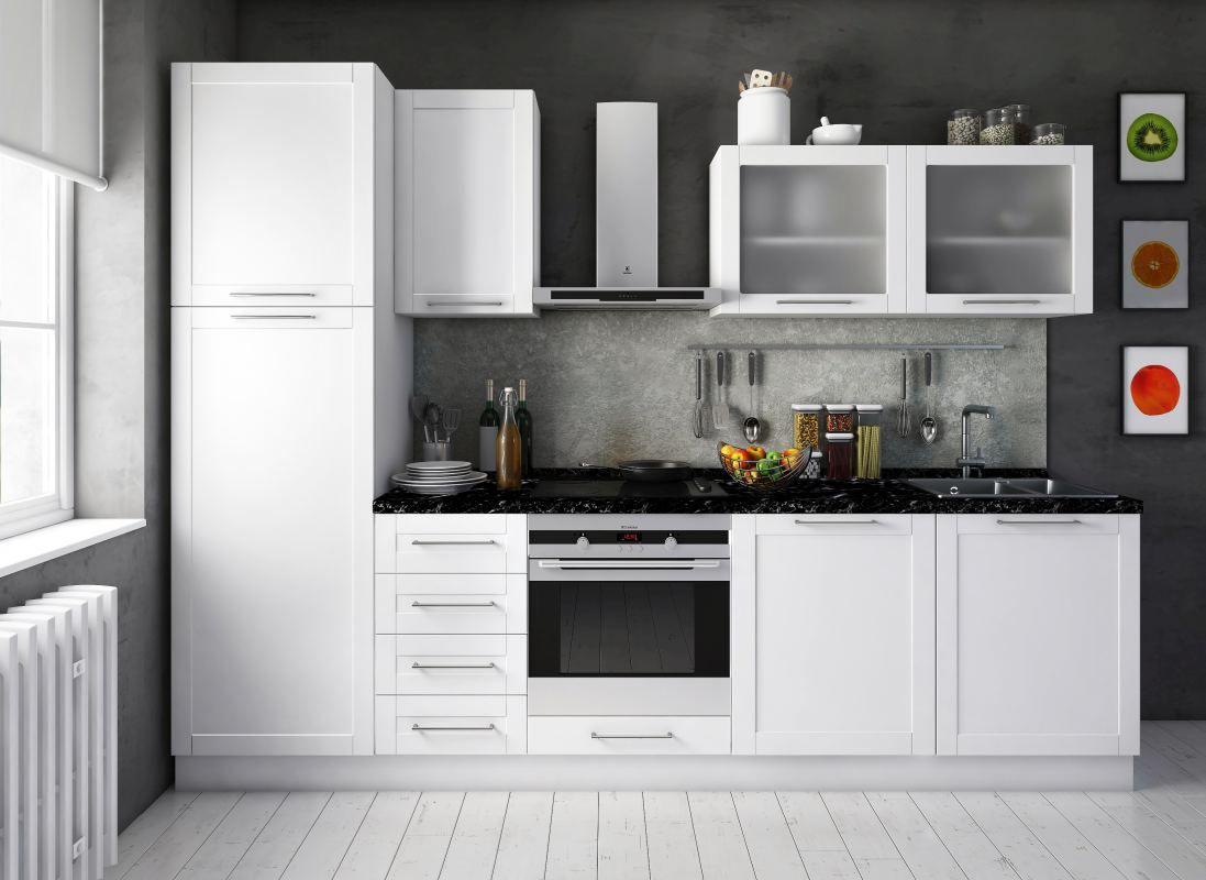 Küchenzeile / Küchenblock Fagali 20, 8-teilig, Farbe: Weiß