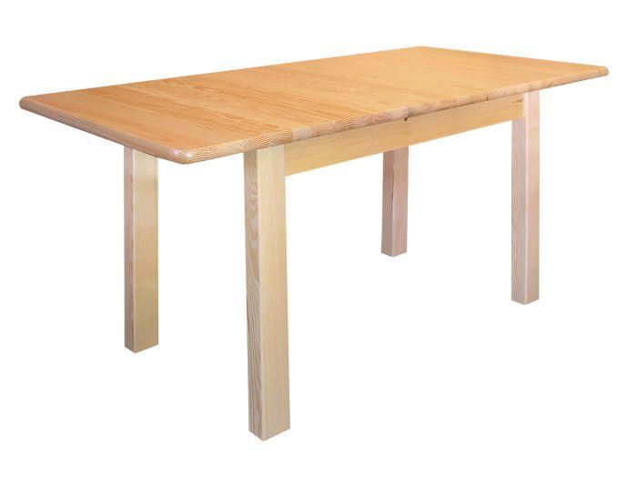 Tisch ausziehbar Kiefer massiv Vollholz natur Junco 236A (eckig) - Abmessung 80 x 140 / 170 cm
