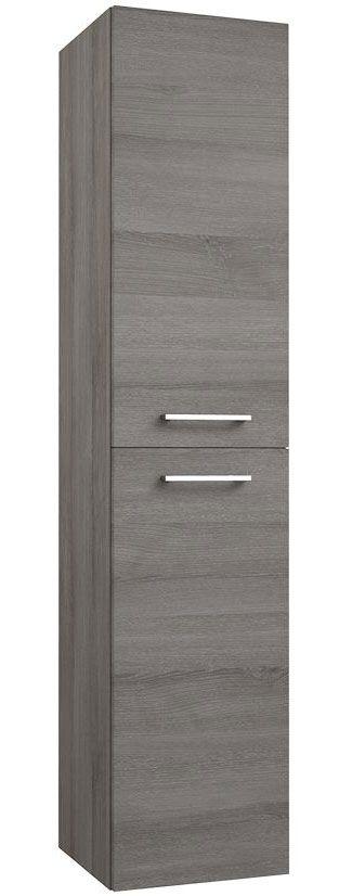 Badezimmer - Hochschrank Rajkot 89, Farbe: Esche Grau – 160 x 35 x 35 cm (H x B x T)