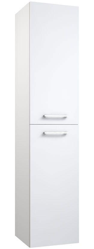 Badezimmer - Hochschrank Rajkot 82, Farbe: Weiß glänzend – 160 x 35 x 35 cm (H x B x T)