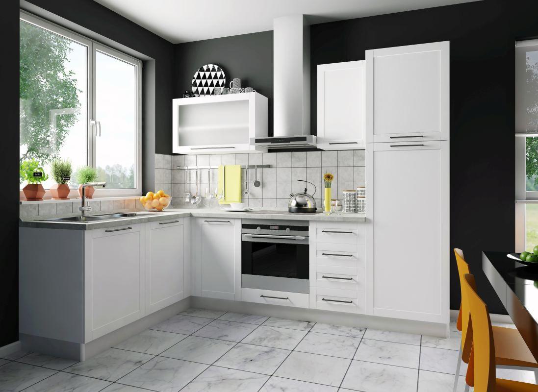 Eckküchenblock Fagali 33, 8-teilig, Farbe: Weiß
