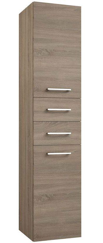 Badezimmer - Hochschrank Rajkot 80, Farbe: Eiche - 160 x 35 x 35 cm (H x B x T)