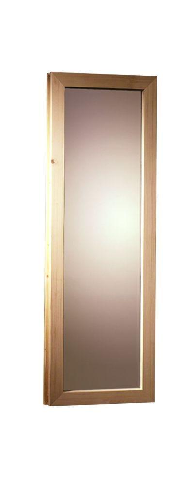 Fenster für Saunafass, bronziert