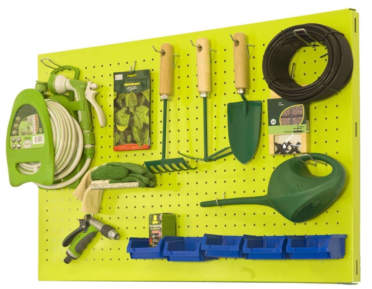 Lochwand Garten P - Click, Farbe: Grün, Maße: 40 x 120 cm (H x B)