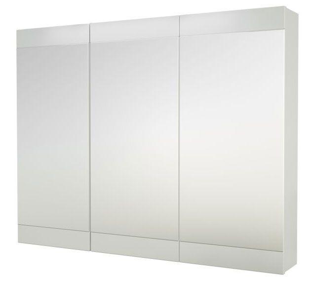 Bad - Spiegelschrank Eluru 05, Farbe: Weiß glänzend – 70 x 90 x 14 cm (H x B x T)